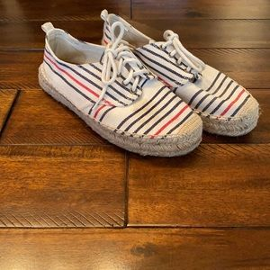 Soludos Red/White and Blue Lace Up Shoes